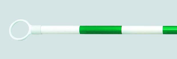ガードバー 35φ 緑白