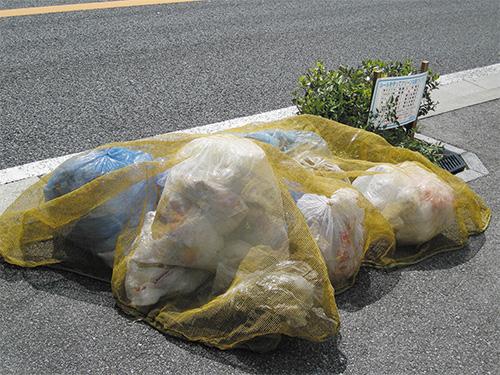ゴミ被せネット